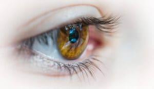 close up focus on an eye