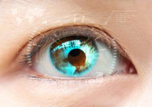 Close-up blue eye