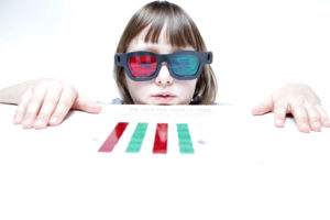 girl performing a color detecting at-home test