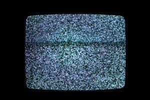 static tv representing visual snow