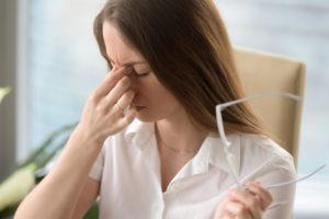 woman experience ocular hypertension